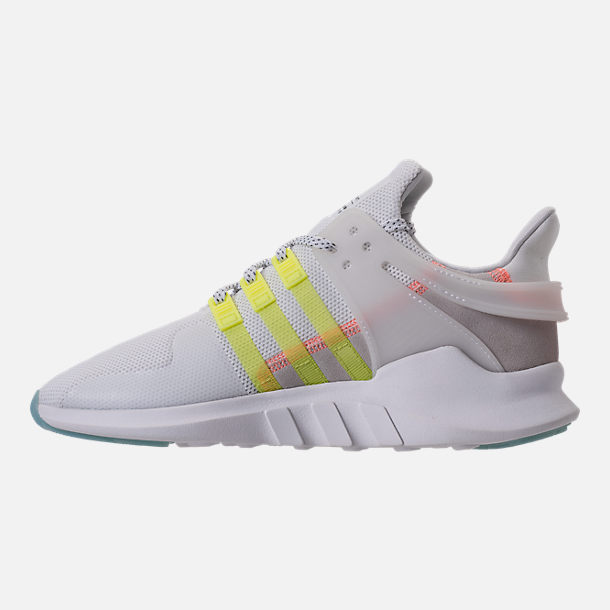 Left view of Women's adidas EQT Support ADV Casual Shoes in White/Semi Frozen Yellow
