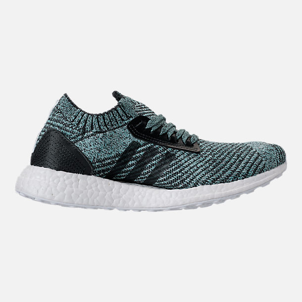 Right view of Women's adidas UltraBOOST X Parley LTD Running Shoes in Carbon/Carbon/Blush Pink