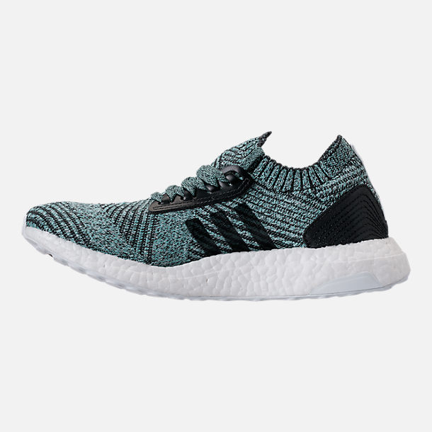 Left view of Women's adidas UltraBOOST X Parley LTD Running Shoes in Carbon/Carbon/Blush Pink