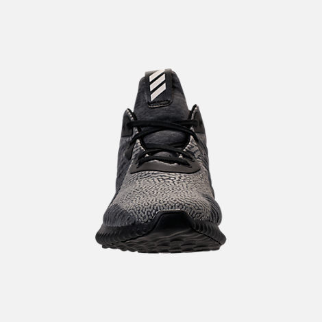 Front view of Women's adidas AlphaBounce HPC AMS Running Shoes in Black