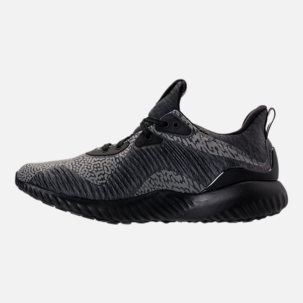 Left view of Women's adidas AlphaBounce HPC AMS Running Shoes in Black