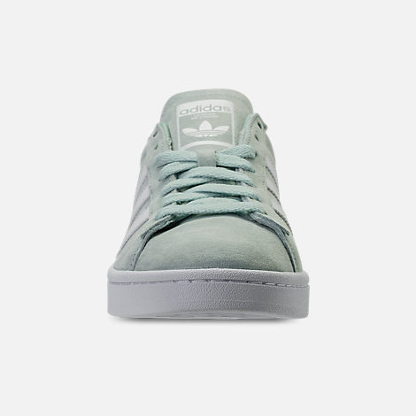 new style dae6b 780d9 Front view of Mens adidas Originals Campus adicolor Casual Shoes in Ash  GreenFootwear White