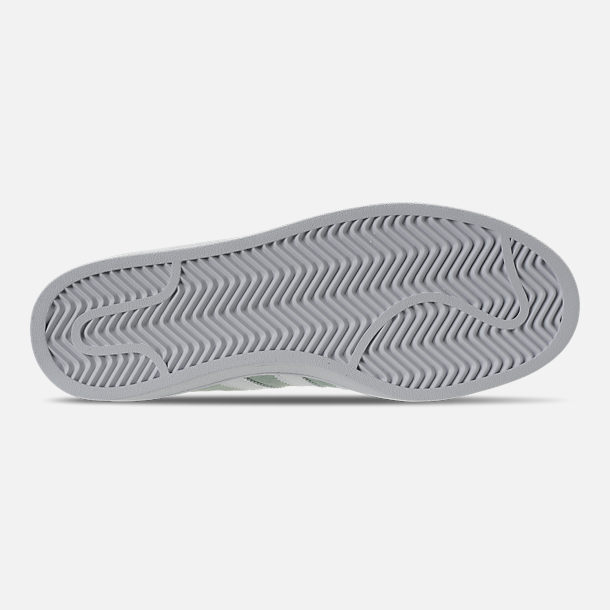 buy popular eb3e5 22595 Bottom view of Mens adidas Originals Campus adicolor Casual Shoes in Ash  GreenFootwear White
