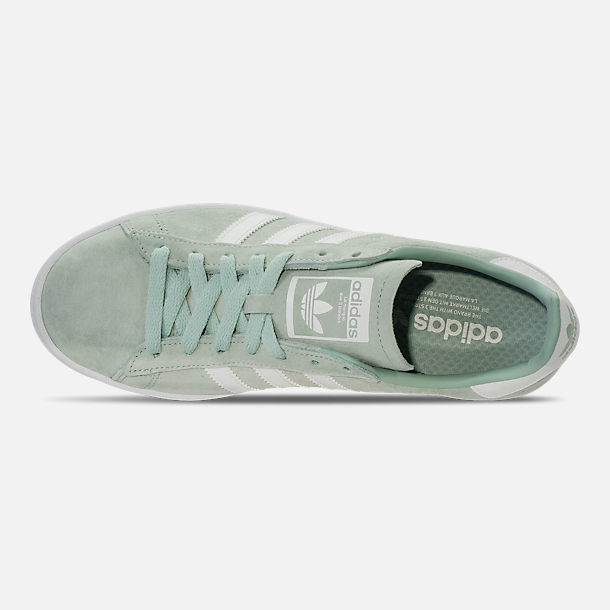 new concept c607d 9455e Top view of Mens adidas Originals Campus adicolor Casual Shoes in Ash GreenFootwear  White