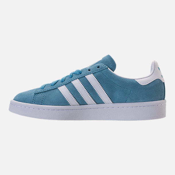 Left view of Men's adidas Originals Campus adicolor Casual Shoes in Ash Blue/Footwear White