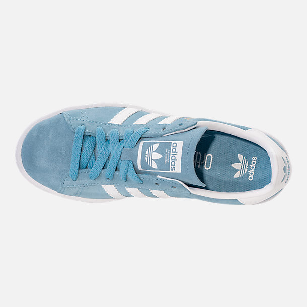 Top view of Men's adidas Originals Campus adicolor Casual Shoes in Ash Blue/Footwear White