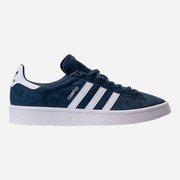 Right view of Women's adidas Campus Casual Shoes in Mineral Blue/White