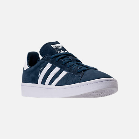 Three Quarter view of Women's adidas Campus Casual Shoes in Mineral Blue/White