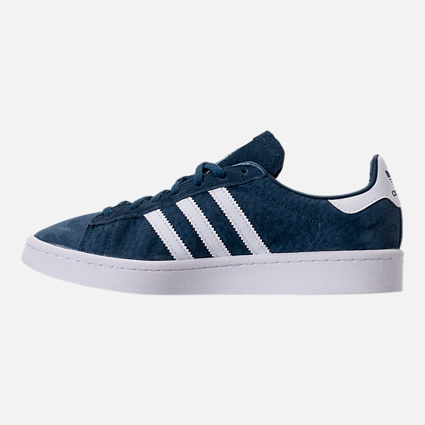 Left view of Women's adidas Campus Casual Shoes in Mineral Blue/White