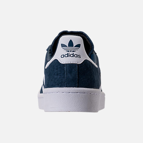 Back view of Women's adidas Campus Casual Shoes in Mineral Blue/White