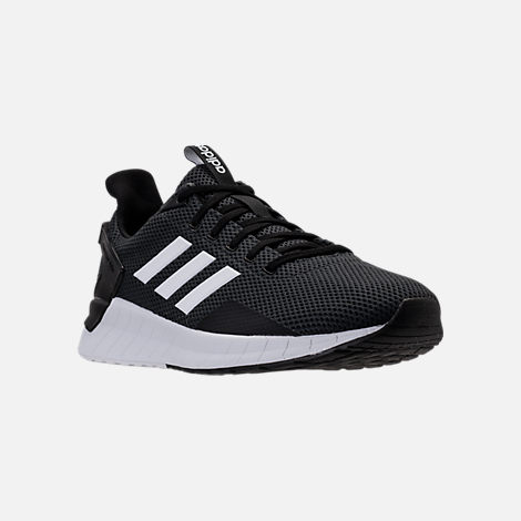 Three Quarter view of Men's adidas Questar Ride Running Shoes in Core Black/White/Carbon