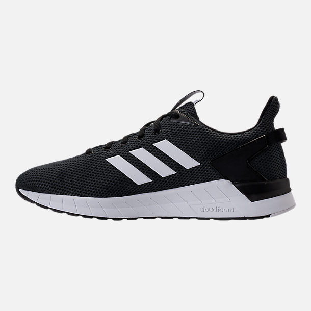 Left view of Men's adidas Questar Ride Running Shoes in Core Black/White/Carbon