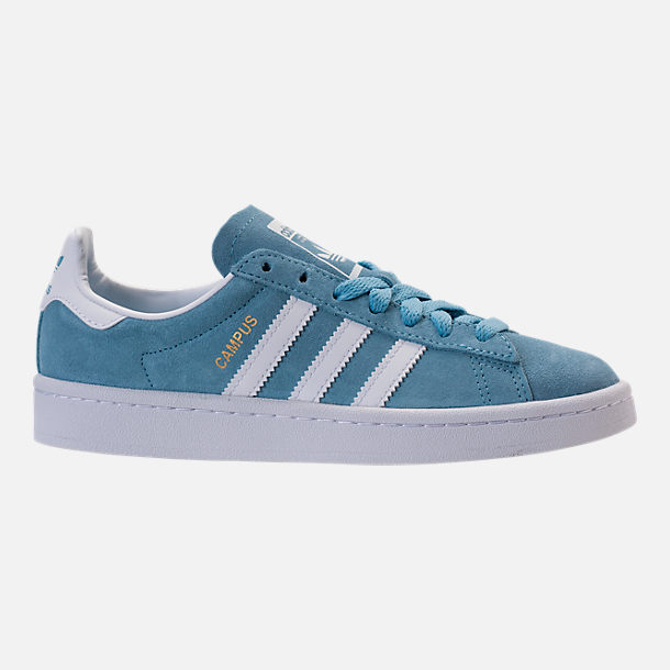 Right view of Boys' Grade School adidas Campus adicolor Casual Shoes in Ash Blue/White