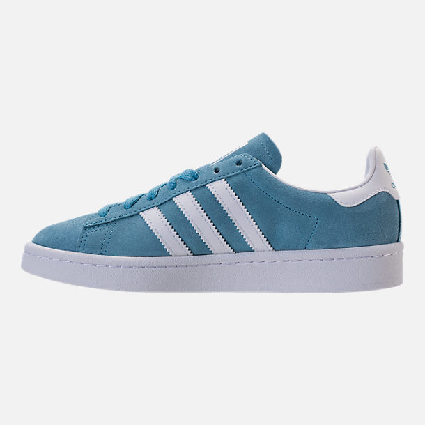 Left view of Boys' Grade School adidas Campus adicolor Casual Shoes in Ash Blue/White