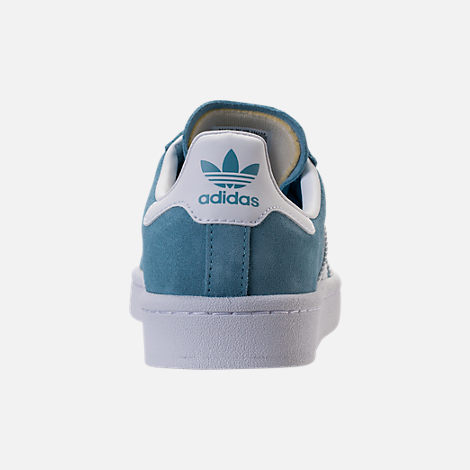 Back view of Boys' Grade School adidas Campus adicolor Casual Shoes in Ash Blue/White
