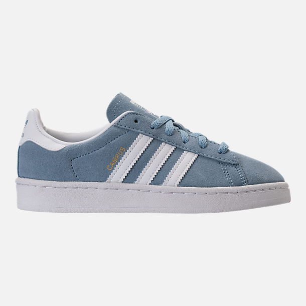 Right view of Boys' Preschool adidas Campus adicolor Casual Shoes in Ash Blue/White