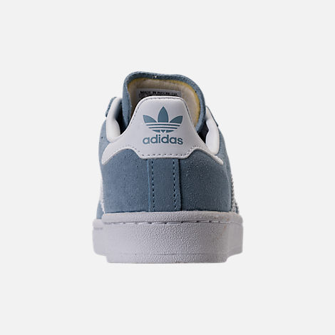 Back view of Boys' Preschool adidas Campus adicolor Casual Shoes in Ash Blue/White