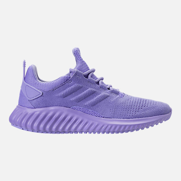Right view of Girls' Grade School adidas AlphaBounce CR Running Shoes in Chalk Purple