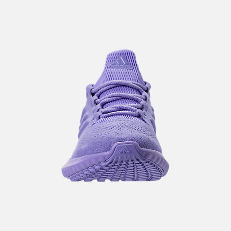 Front view of Girls' Grade School adidas AlphaBounce CR Running Shoes in Chalk Purple