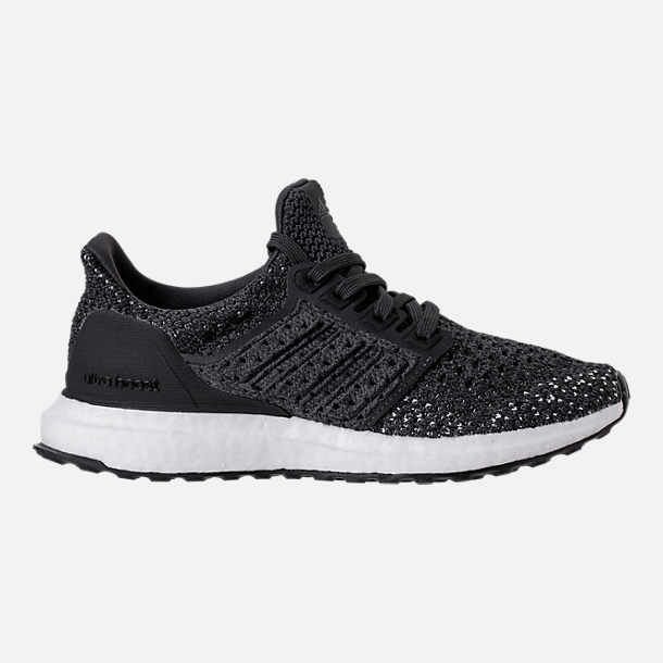 Right view of Kids' Grade School adidas UltraBOOST Clima Running Shoes in Carbon/Orchid/Tint