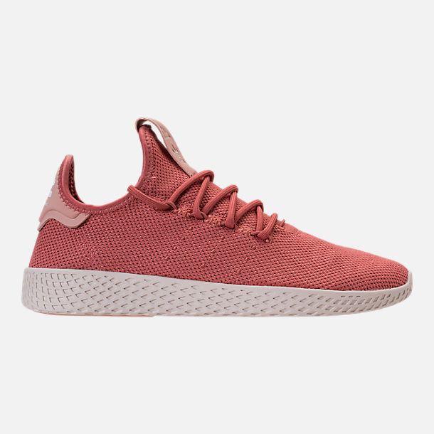 Right view of Women's adidas Originals Pharrell Williams Tennis HU Casual Shoes in Ash Pink/Chalk White