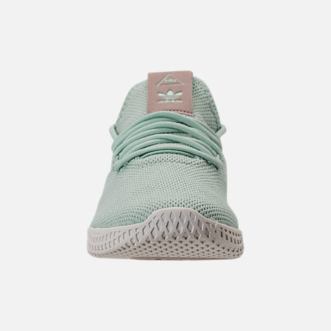 6933ce8e450 Front view of Women s adidas Originals Pharrell Williams Tennis HU Casual  Shoes in Ash Green