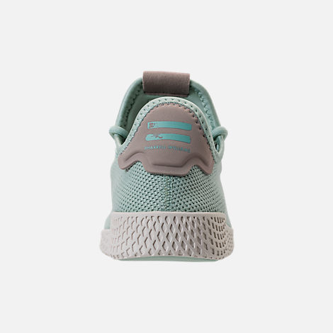 23375d4cafd Back view of Women s adidas Originals Pharrell Williams Tennis HU Casual  Shoes in Ash Green