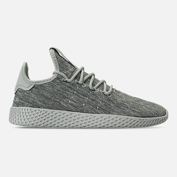 Right view of Women's adidas Originals Pharrell Williams Tennis HU Casual Shoes in Vapour Green/Chalk White