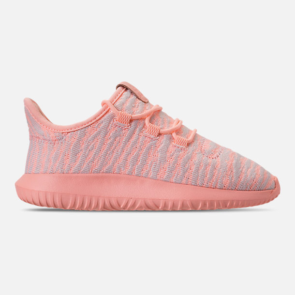 online retailer a175a 0c7a5 Right view of Girls  Little Kids  adidas Tubular Shadow Casual Shoes in  Clear Orange