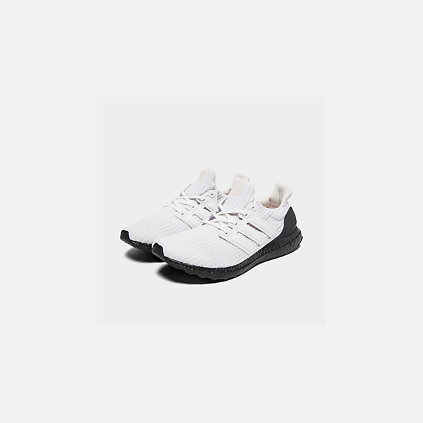 Three Quarter view of Men's adidas UltraBOOST Running Shoes in Orchid Tint S18/Footwear White/Core Black