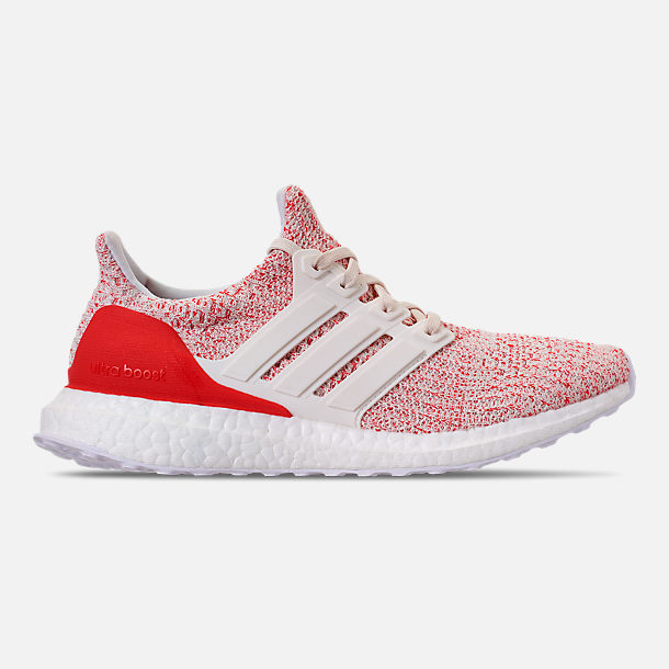 Right view of Women's adidas UltraBOOST 4.0 Running Shoes in Chalk White/Active Red