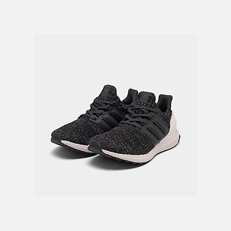 9d4b24c2b77de Three Quarter view of Women s adidas UltraBOOST 4.0 Running Shoes in Core  Black Carbon