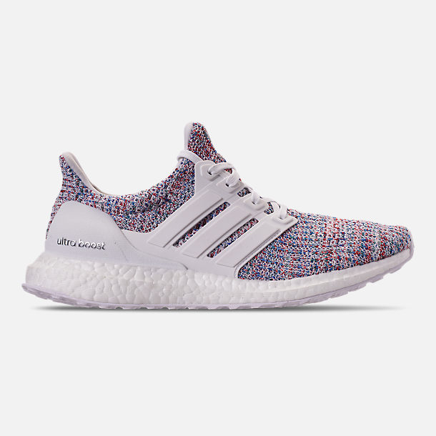 Right view of Women's adidas UltraBOOST 4.0 Running Shoes in Footwear White/Active Red