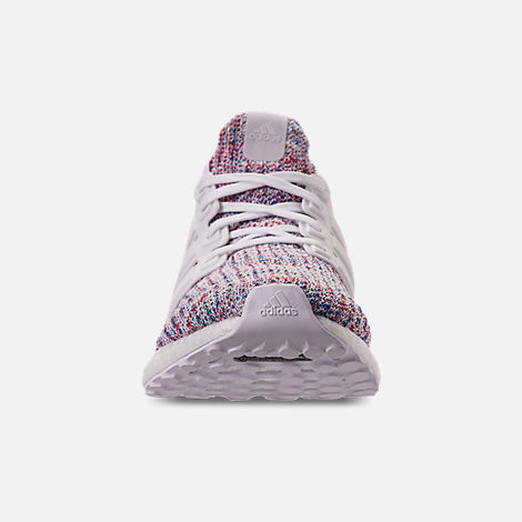 Front view of Women's adidas UltraBOOST 4.0 Running Shoes in Footwear White/Active Red