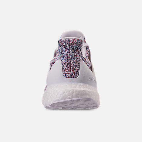 Back view of Women's adidas UltraBOOST 4.0 Running Shoes in Footwear White/Active Red