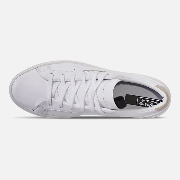 quality design 1a815 f3369 Top view of Women s adidas Originals Sleek Casual Shoes in White White White
