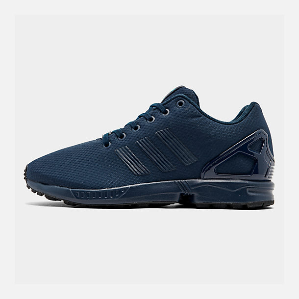 Right view of Men's adidas ZX Flux Casual Shoes in Navy