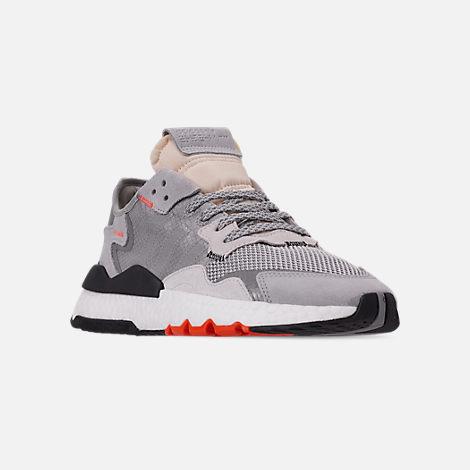 2816d1f1bd4d Three Quarter view of Men s adidas Originals Nite Jogger Casual Shoes in  Grey Two F17