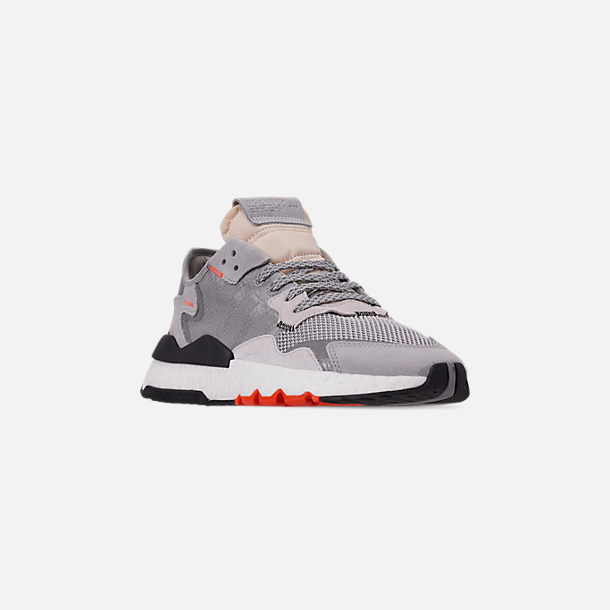 release date d16a7 cd6cd Three Quarter view of Men s adidas Originals Nite Jogger Casual Shoes in Grey  Two F17