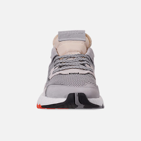 da1086c156ab Front view of Men s adidas Originals Nite Jogger Casual Shoes in Grey Two  F17 MGH