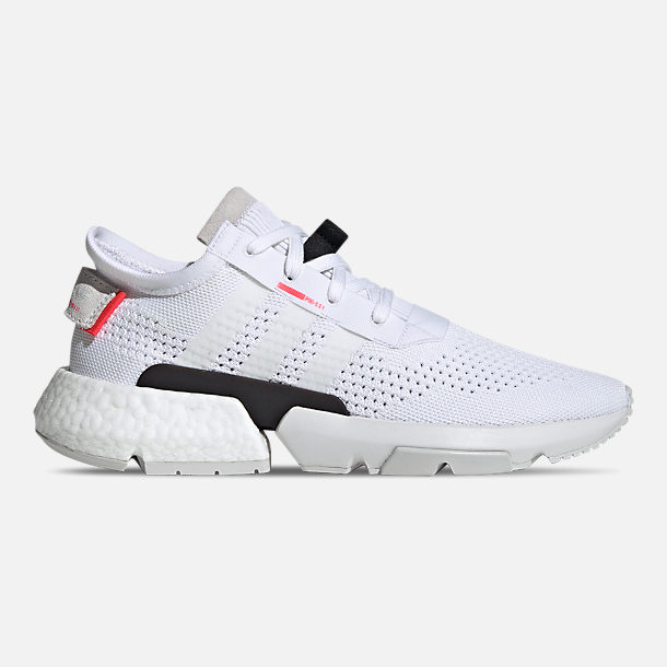 Right view of Men's adidas Originals POD-S3.1 Primeknit Casual Shoes in Footwear White/Shock Red