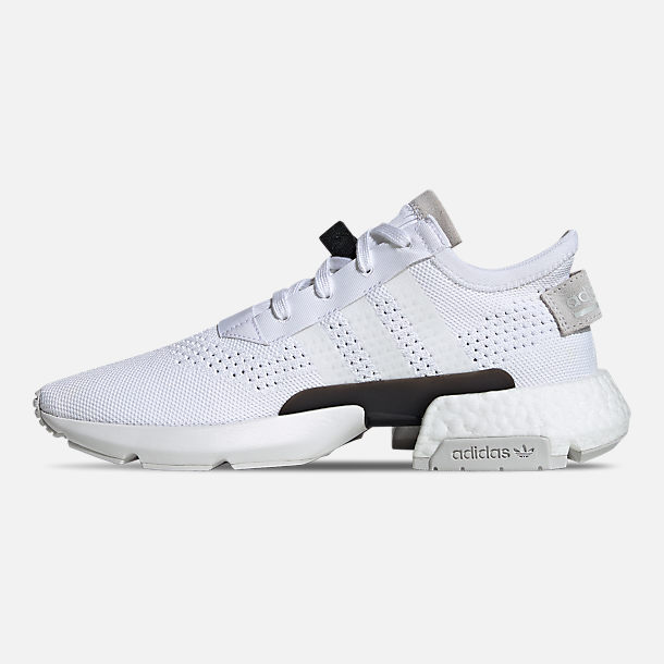 Left view of Men's adidas Originals POD-S3.1 Primeknit Casual Shoes in Footwear White/Shock Red