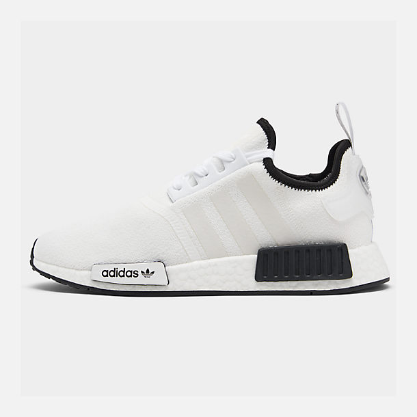 Right view of Men's adidas NMD Runner R1 Casual Shoes in Footwear White/Footwear White/Core Black