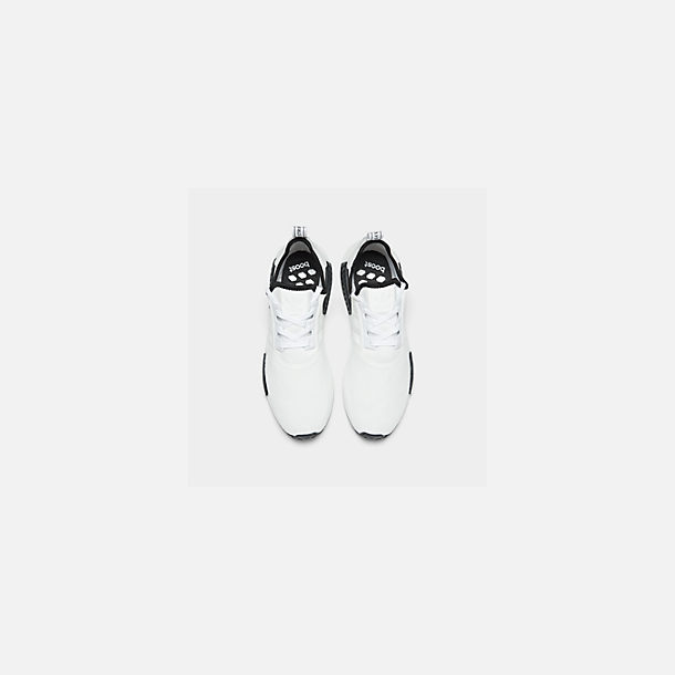 Back view of Men's adidas NMD Runner R1 Casual Shoes in Footwear White/Footwear White/Core Black