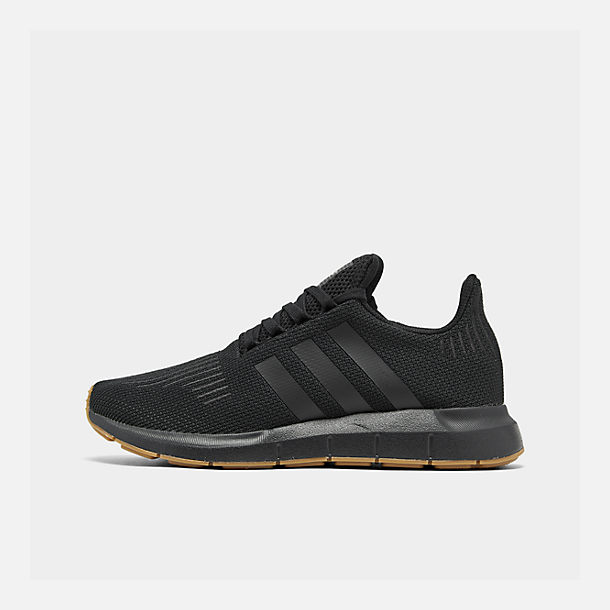 Right view of Men's adidas Swift Run Running Shoes in Core Black/Gum