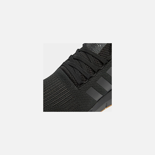 Front view of Men's adidas Swift Run Running Shoes in Core Black/Gum
