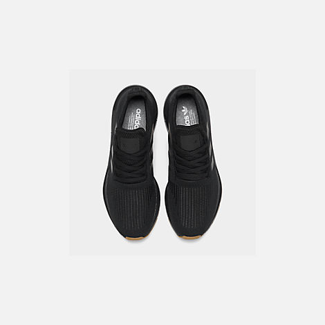 Back view of Men's adidas Swift Run Running Shoes in Core Black/Gum