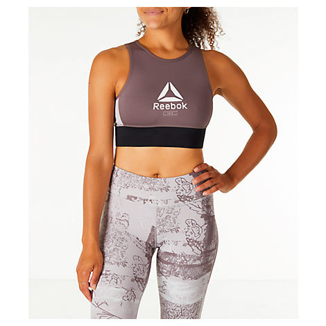 6fafee5039ef9 ... mobility Sweat-wicking Speedwick technology Wide elastic band at hem  for a stay-put fit Machine wash The Reebok Layering Training Bralette  Sports Bra ...