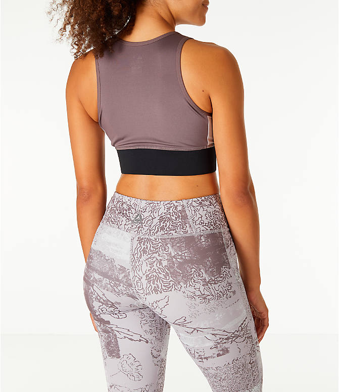 Back Right view of Women's Reebok Layering Training Bralette Sports Bra in Almgre