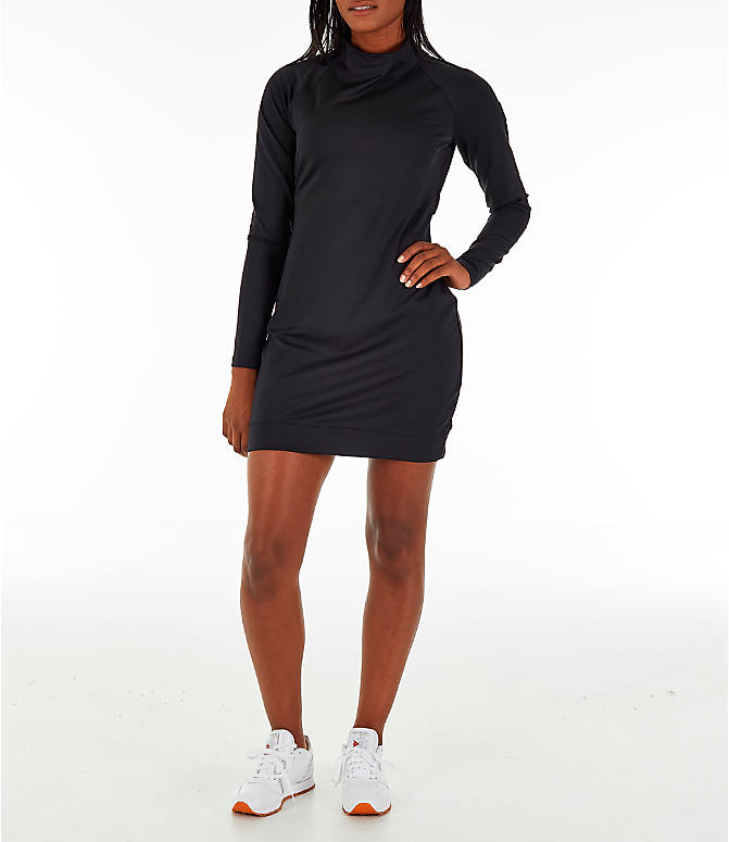 Front view of Women's Reebok Classics Advanced Mock Dress in Black